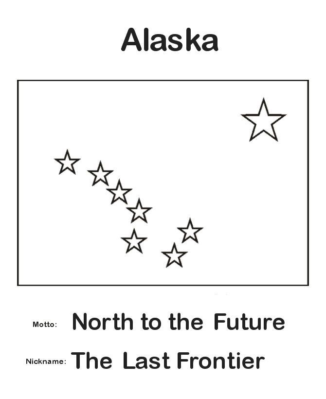 #Alaska State Flag Coloring Page