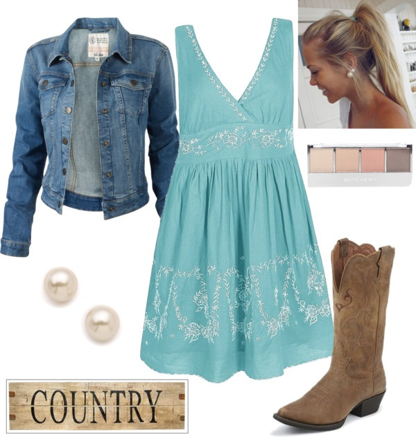 Country outfit ii by natihasi on polyvore i like the for Country dresses for wedding guest