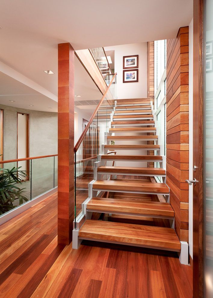 los angeles stair tread ideas with modern pendant lights staircase contemporary and glass panel wood stairs
