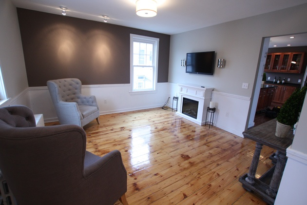 After: Second floor living room in After: Second floor living room in Season 2 Episode 11