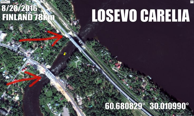 Russia building huge bridges to Losevo, Carelia. 78km to Finland.