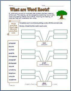 prefixes worksheets and roots on pinterest. Black Bedroom Furniture Sets. Home Design Ideas