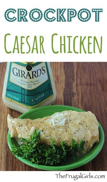 Even Julius Caesar would love this crockpot chicken recipe! You're gonna love the fun and juicy flavor this Crock Pot Caesar Chicken Recipe delivers!