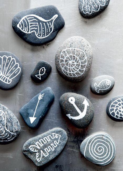 DIY: Indret med strandfund #beach #stone #decoration www.vangelyst.dk