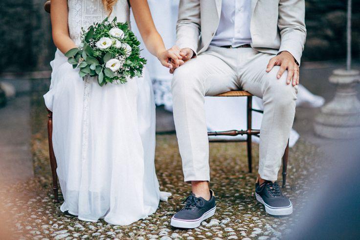 Secret garden wedding in Italy