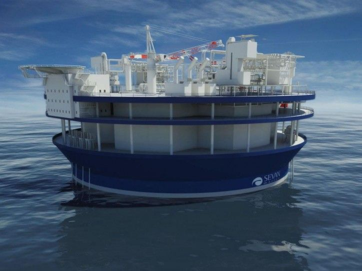 Sevan Marine Cylindrical floater concept for FLNG