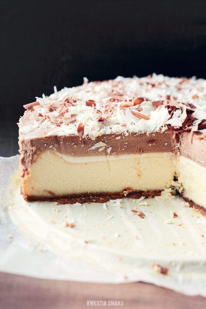 Sernik z musem z mlecznej czekolady