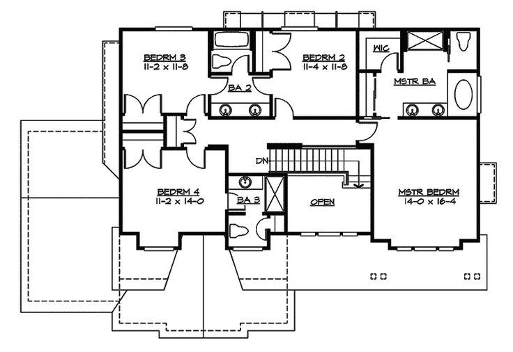 Country House Plan Second Floor - 071D-0128 | House Plans and More