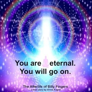 """""""You are eternal. You will go on."""" ~ The Afterlife of Billy Fingers"""