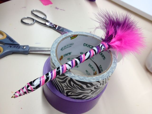 crafting program for teens: duct tape pens