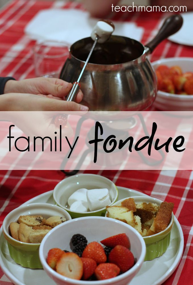 how to do a family fondue night: special occasion dinner --> have YOU 'fondued' with your family yet?