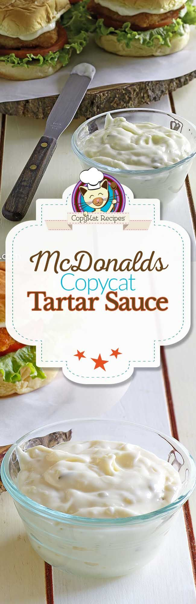 You can recreate the famous McDonalds tartar sauce at home with this easy copycat recipe.