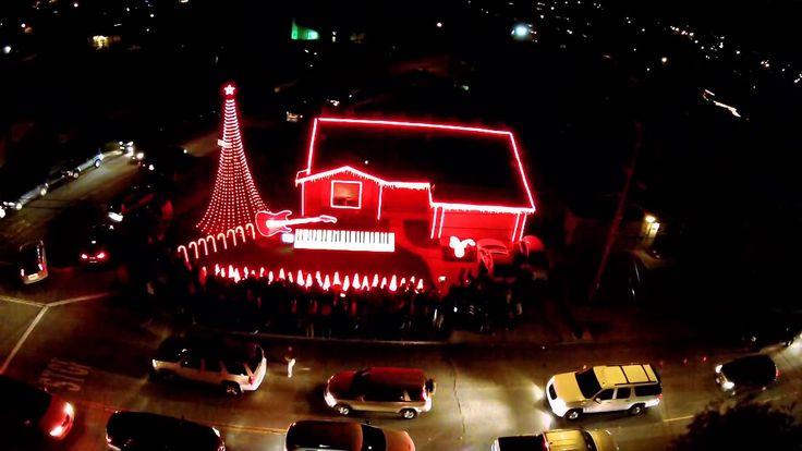 Best of Star Wars Music  Christmas Light Show from Drone DJI Phantom 2 V...