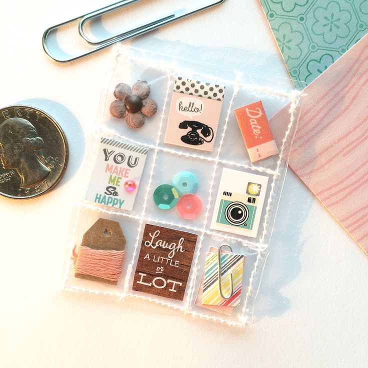 Retro Mini Pocket Letter Planner Charm October Afternoon by Jackie Benedict