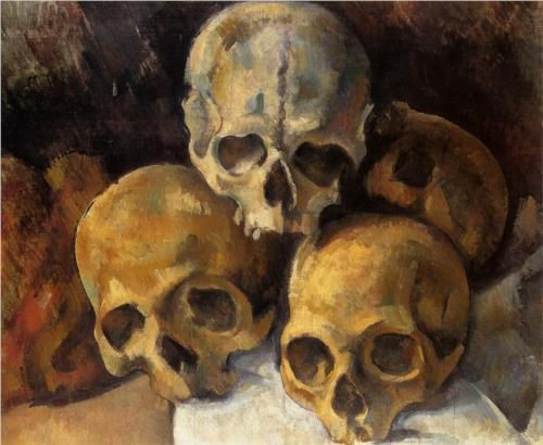 Pyramid of skulls (1900) ~ Paul Cezanne