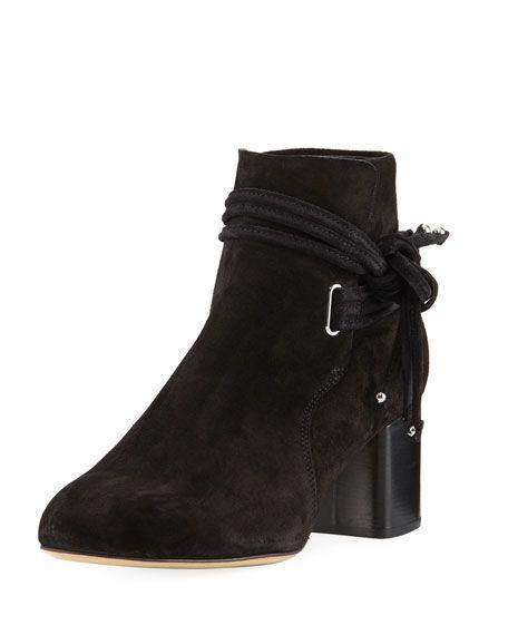 RAG & BONE Dalia Ii Suede Tie Boot, Black. #ragbone #shoes #
