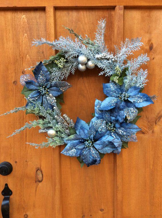 Victorian Elegance, Christmas, Winter,  Front Door,  Grapevine Wreath, Artificial Silk Flower Wall Decor, Made in Canada