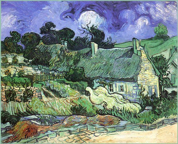 Case con tetti di paglia - 1890 - Van Gogh - Opere d'Arte su Tela - Listino prodotti - Digitalpix - Canvas - Art - Artist - Painting