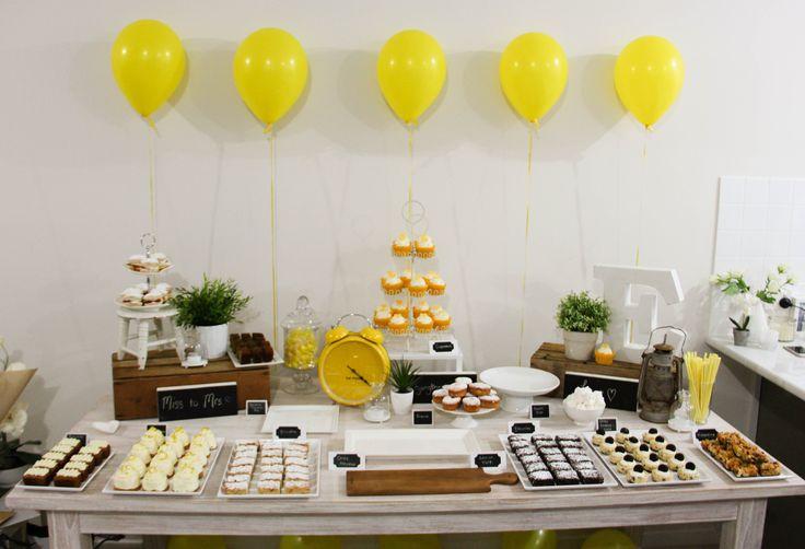 Kitchen Tea Table Display with food #kitchentea #foodie #tabledisplay #tyingthenorthknott