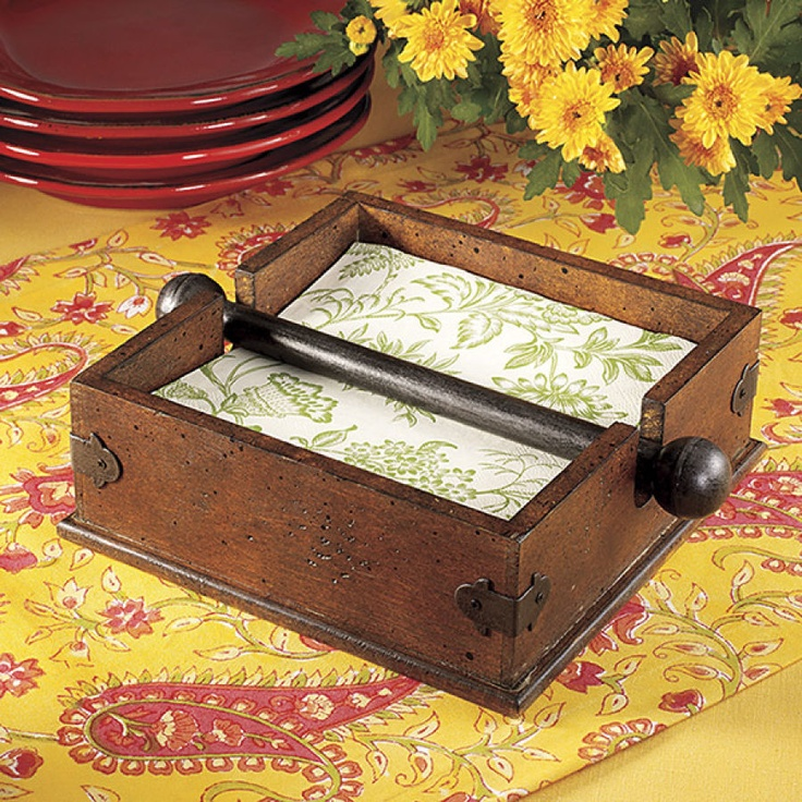 Wooden Napkin Holder - This is the one I want my sweetheart to make for me....LOVE it.