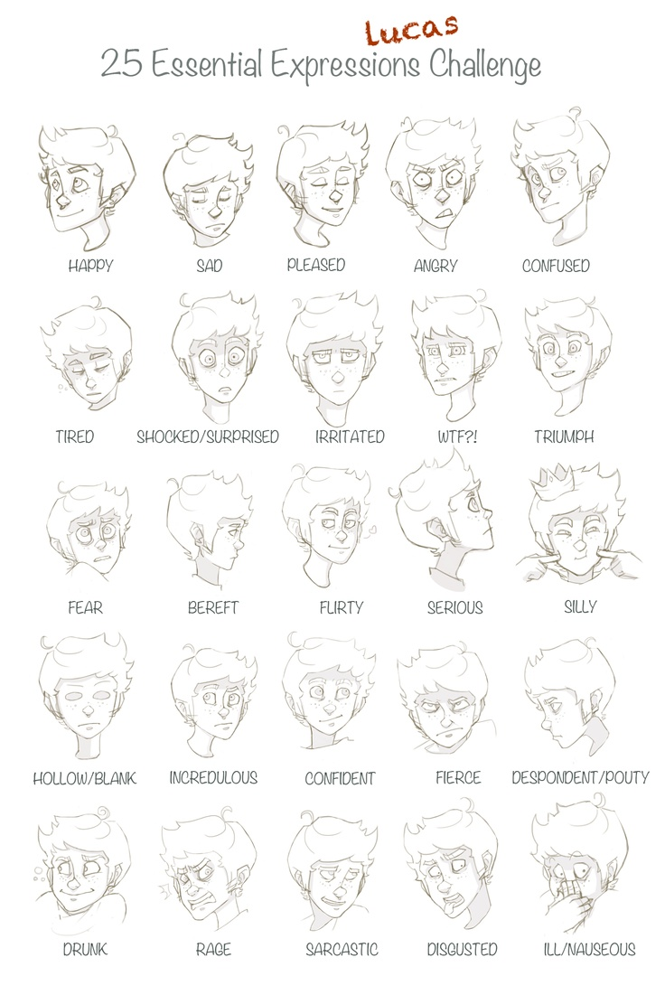 Character Design Essentials : Best expressions challenge images on pinterest