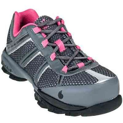 Nautilus Shoes: Women's Steel Toe N1393 ESD Athletic Grey/Pink Work Shoes