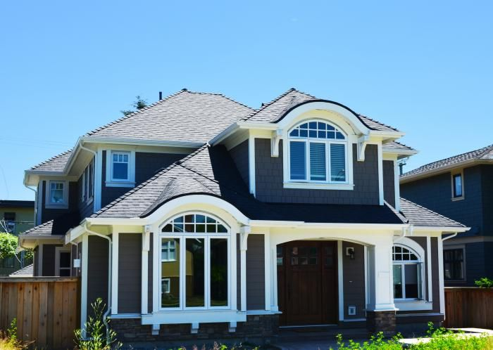 New Burnaby custom home exterior