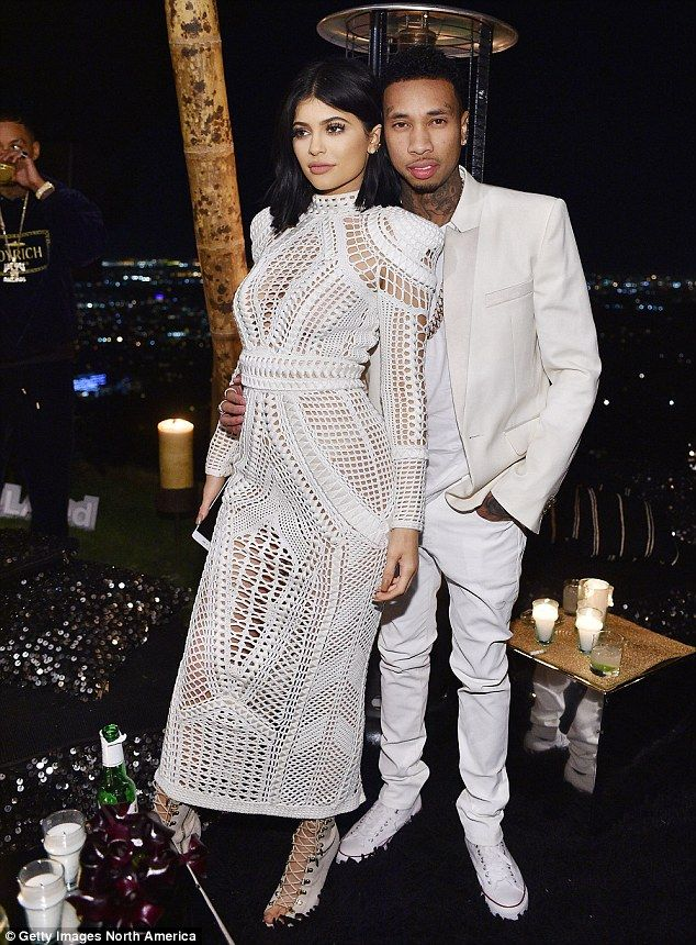 As they were: Kylie Jenner and Tyga attendOlivier Rousteing's birthday bash in Los Angeles last month