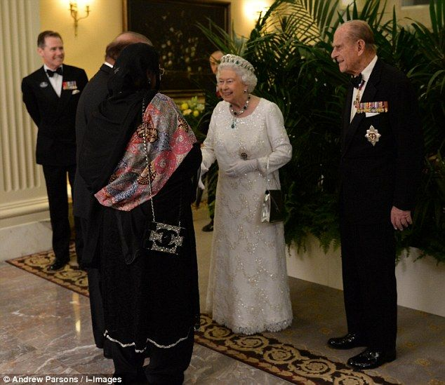The Queen and The Duke of Edinburgh greet guests and heads of states at the start of the b...