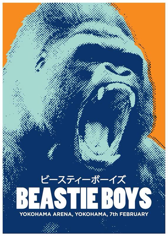 Beastie Boys gig poster by TheIndoorType | posters | Concert posters, Music artwork, Band posters