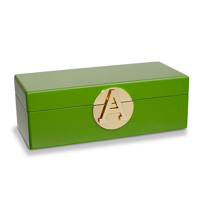 Brides.com: . Monogram jewelry box, $78, C. Wonder  Browse more wedding favors and gift ideas.