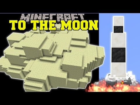 Minecraft: ROCKET SHIP TO THE MOON! (TRAVEL TO SPACE!) Custom Command Creation - YouTube