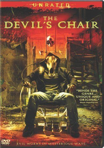 The Devil's Chair (2007) -- Chair in asylum houses demons. Ridiculously annoying. Terrible acting, silly plot, awful creature effects. The voice over was seriously aggravating enough, but the constant freeze frame BS made me want to scream with frustration. A total waste of time. Mina Tepes Rating: Fangless & Toothless.