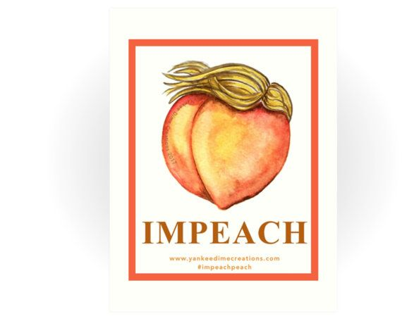 """Womens March protest poster, impeach peach anti-Trump poster - printable protest poster (22x28"""") - Feminist art, peach art"""
