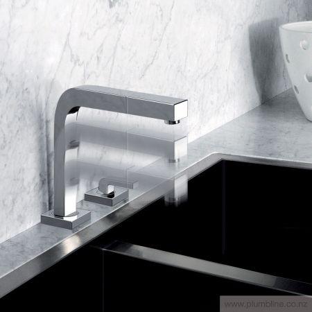 Su&Giu 2 Hole Kitchen Mixer With Pull Out Spout - Kitchen Tapware - Kitchen