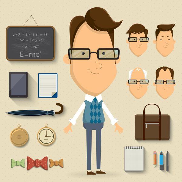 Character design set by Kovacs Tamas, via Behance