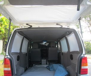 Velcro Curtains for Your Camper Van Instructables... what a great idea! I should make some for the car for hot sunny road trips...