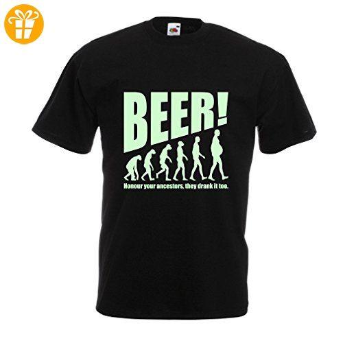 N4534 Männer T-Shirt The Beervolution (X-Large Schwarz Fluoreszierend) - T-Shirts mit Spruch | Lustige und coole T-Shirts | Funny T-Shirts (*Partner-Link)