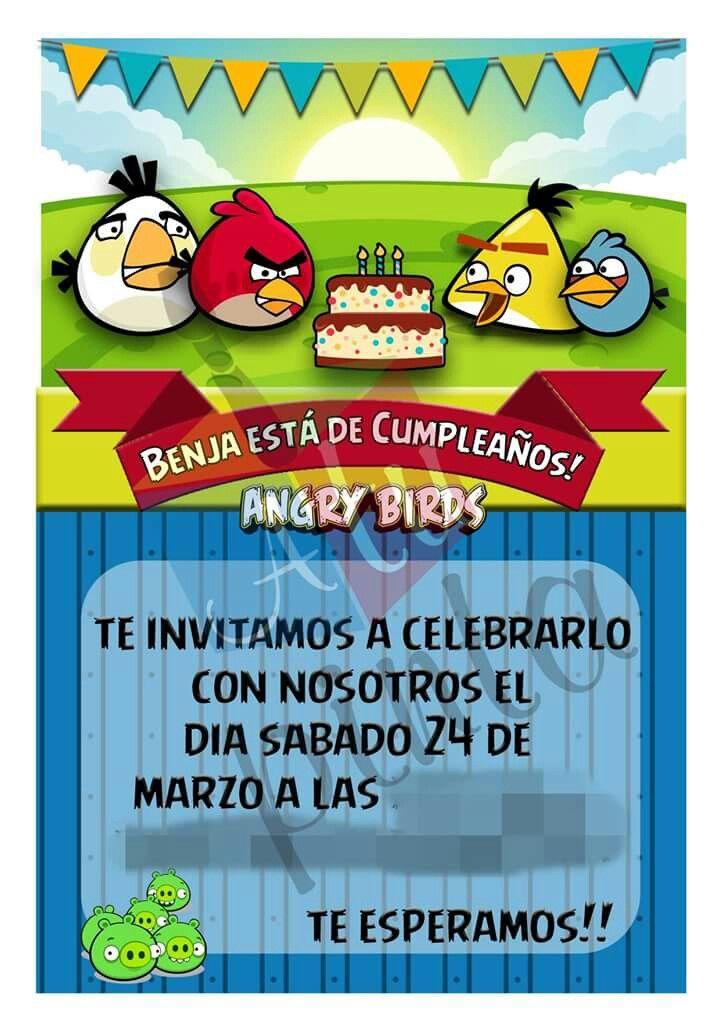 Invitacion AngryBird
