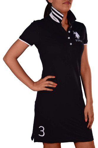 Black Friday U. S. Polo Assn. Women's Big Pony Shirt Dress-Black/White-Small from U.S. Polo Assn. Cyber Monday