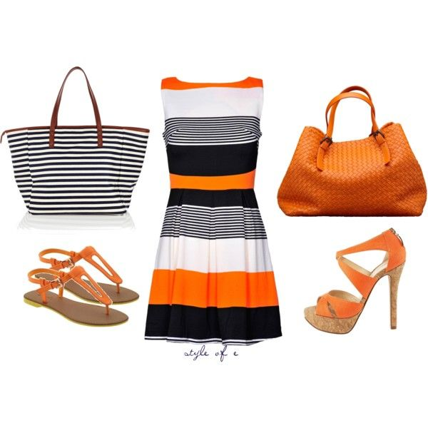 Outfit: Orange, Fashion, Dreams Closet, Style, Clothing, Outfits Ideas, Polyvore, The Dresses, Weights Loss