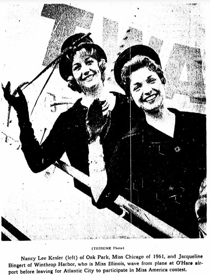 60's: Miss Chicago and Miss Illinois 1961 ※9/4/1961,Chicago Tribune