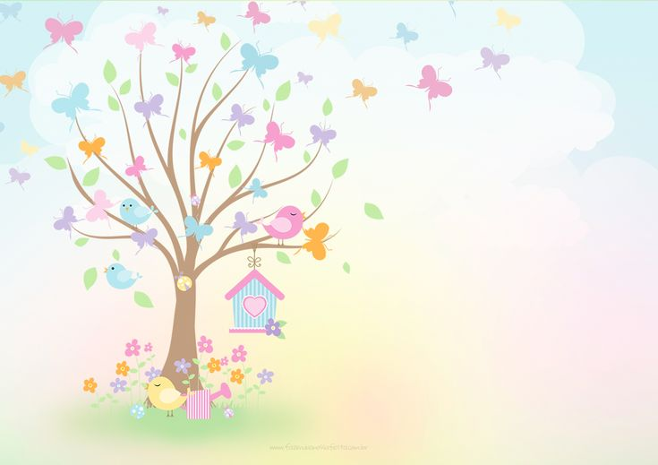 Convite ou Cartao Jardim das Borboletas