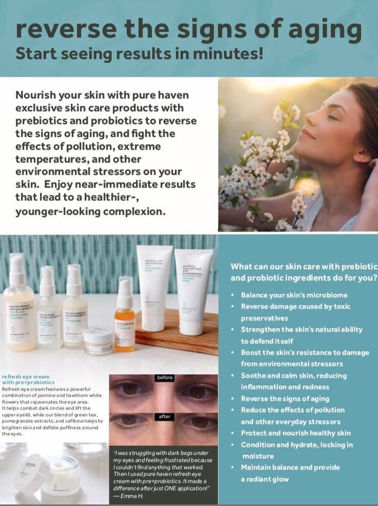 Pure Haven Prebiotic + Probiotic Skincare Benefits