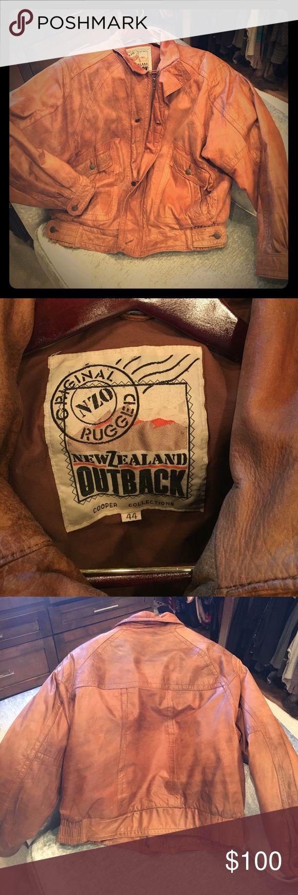Rugged Men's outback leather bomber jacket Rugged Men's outback leather bomber jacket. Jackets & Coats Bomber & Varsity