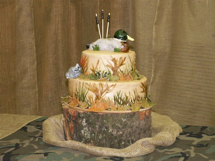 Hunting Theme Party Ideas | Camo Groom's Cake : wedding cake northern california Duck Hu duck ...