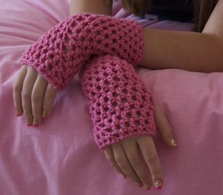 These gloves will knock your socks off! They are so easy and fun to make! They usually take less than an hour to make.