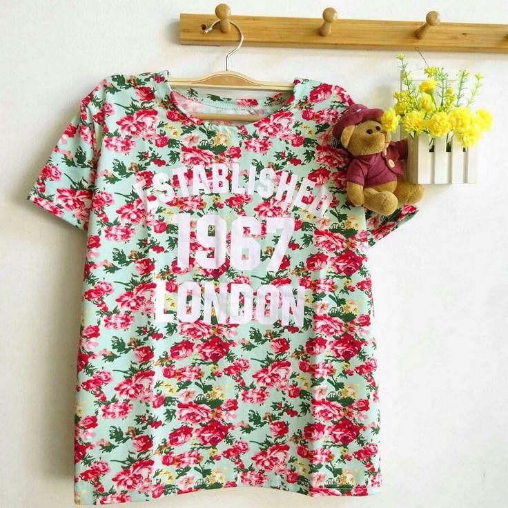 Establisher floral top ( tosca) #80idr#
