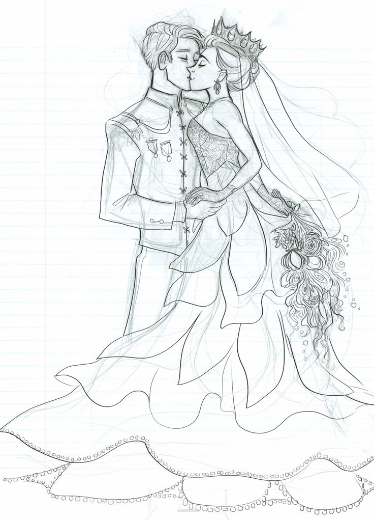 I wish I had it in me to finish this drawing of Maxon and America on their wedding day but…nah.