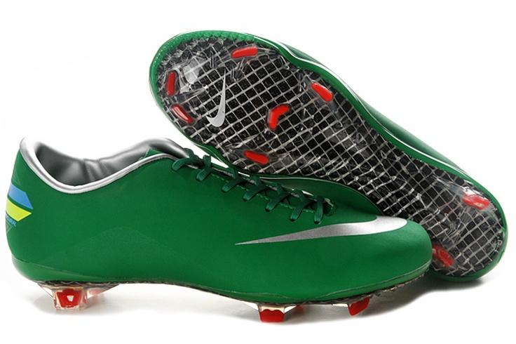 Chaussures Foot Nike Mercurial Vapor VIII FG Rouge WhiteSilver vert